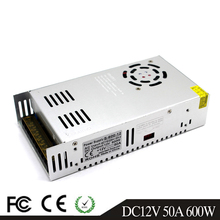 حجم صغير 600 واط 12 فولت 24 فولت 36 فولت 48 فولت 60 فولت تحويل التيار الكهربائي المحولات AC110V 220 فولت إلى DC12V SMPS للطابعة Led CCTV ثلاثية الأبعاد