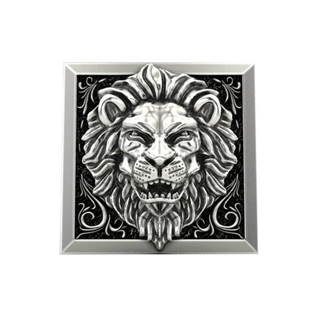 bague lion argent homme