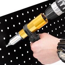 Electric Rivet Nut Gun Riveting Tool Cordless Riveting Drill Adaptor Insert Nut Tool Riveting Drill Adapter