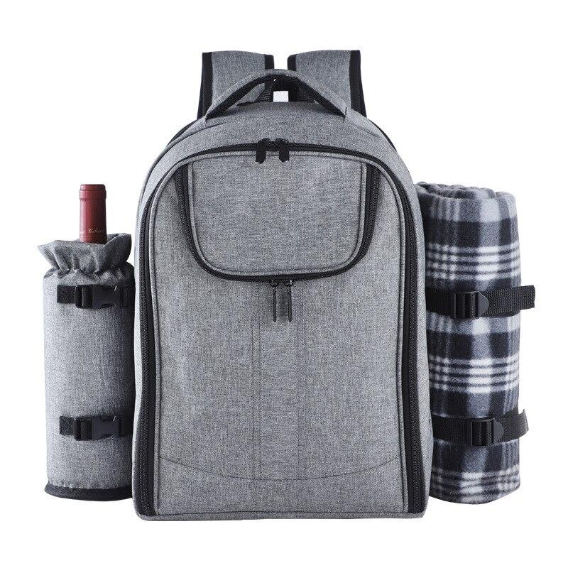 Pique-nique sac à dos sac à dos Portable épaule pique-nique sacs Camping sac à déjeuner avec vaisselle de Camping en plein air