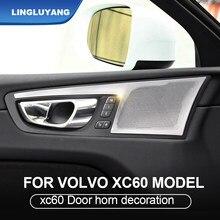 Dla volvo xc60 2018 2020 2021 głośniki dekoracji drzwi samochodu audio pokrywa ochronna róg rama akcesoria samochodowe