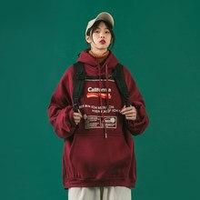 Roupas femininas coreanas 2021 verão novo vermelho plus size t gothic manga comprida com capuz moletom sweatshirttop streetwear roupas