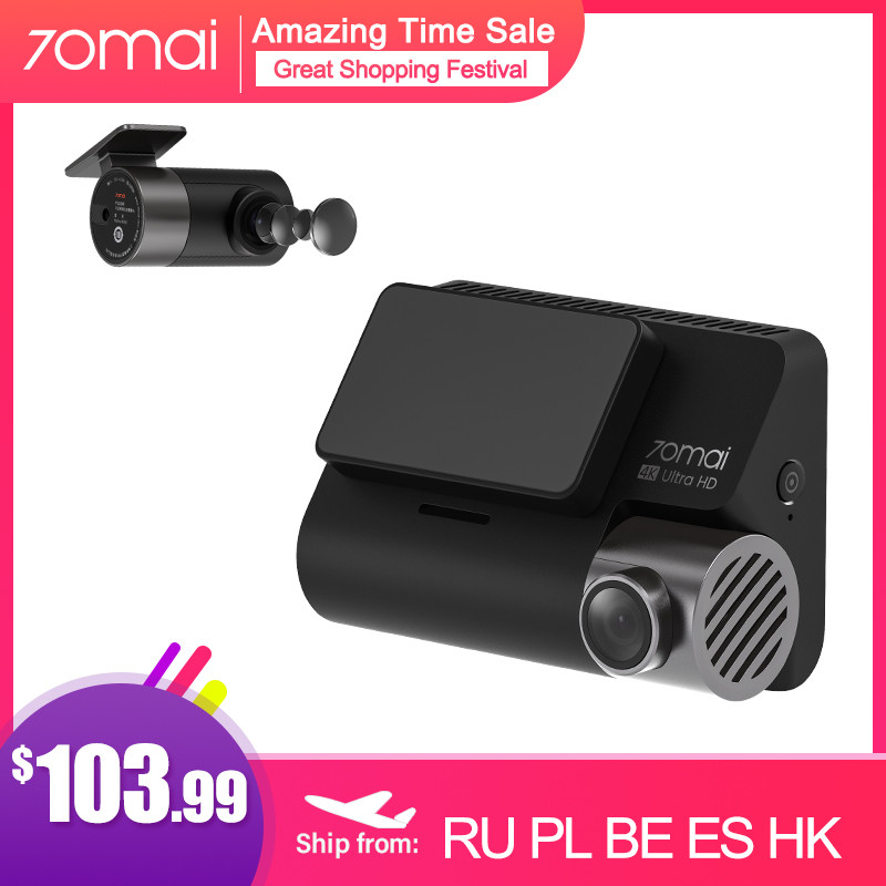 70mai A800 Dash Camera 4K Ultra HD UHD Dual-Vision