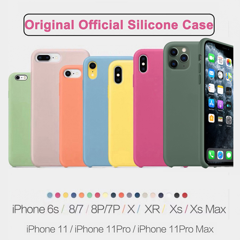 Original Brand Luxury Silicone Phone Case For IPhone XR X XS Max 7 8 6 6s Plus Cases For Apple IPhone 11 Pro Max Cover Funda