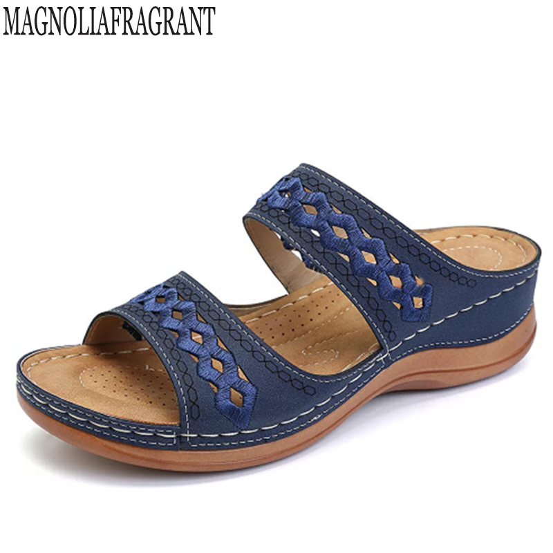 Sandals Summer Slippers Platform Flip-Flops Slides Casual-Shoes Open-Toe Female Beach
