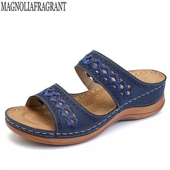 Sewing thread Sandals Summer Women Slippers Open Toe Platform Casual Shoes Ladies Outdoor Beach Flip Flops Female Slides c909 1