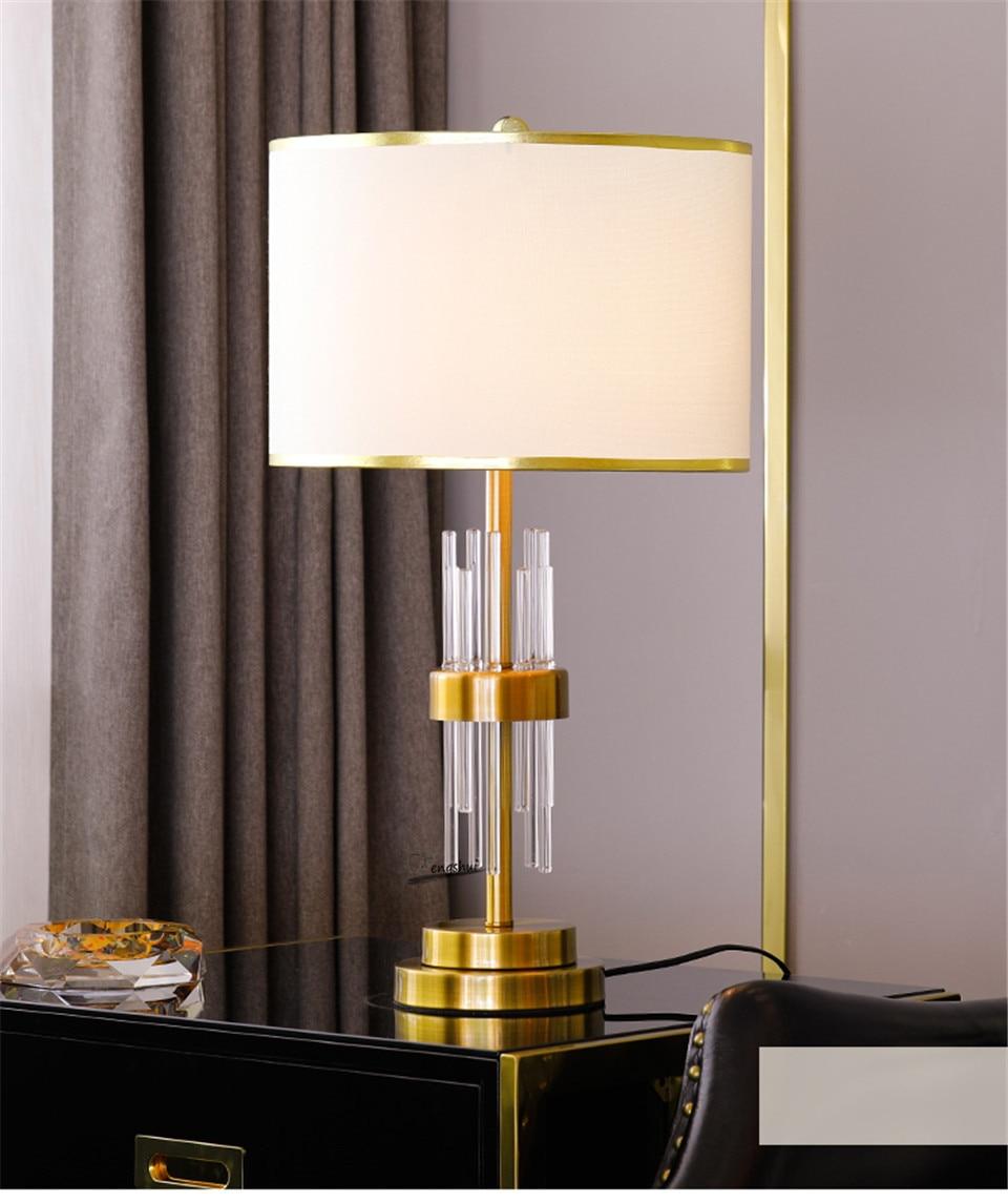 Lâmpadas de mesa cristal moderno para o