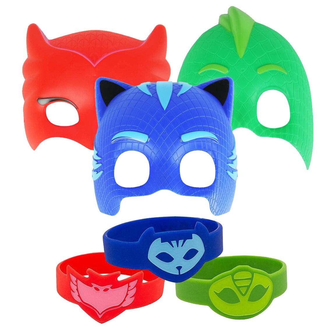 Pj Masks Mask Bracelet Role Playing Christmas Halloween Decoration Anime Doll Toy Cartoon Jewelry Children Gift