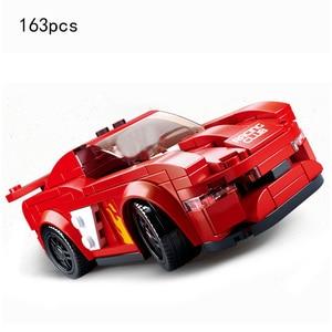 Sluban Kompatibel Stadt Geschwindigkeit Champions Super Racers auto racing Technic modell moc Kinder Spielzeug sets kits kind suv off road