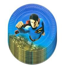 Мультипликационный персонаж 7 дюймов Бумага плиты кекс чашки