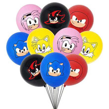 10 Pcs Sonic Latex Ballonnen De Egel Superhero Game Fans Ballon Happy Brithday Decoratie Kinderen Speelgoed Levert Baby Showe Globos(China)