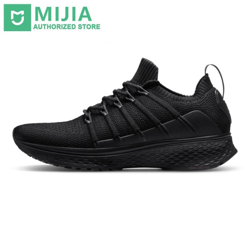 Original Xiaomi Mijia Shoes Sneaker 2 Sports Running Breathable Uni-moulding Techinique Elastic Knitting Vamp For Men Outdoor