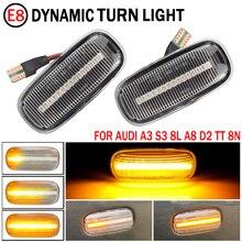 2pcs For Audi A3 S3 8L 2000 2003 A8 D2 TT 8N Dynamic Side Marker Turn Signal Lights Turn Light Amber Led Blinker LED Light