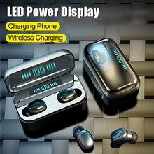 3500mah g6s tws bluetooth 5.0ワイヤレス充電イヤホン8dステレオヘッドセットiphone 11プロマックスサムスンnote10 + huawei社p30プロ
