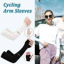 Защита от УФ-излучения охлаждающие рукава унисекс ледяные шелковые рукава Чехлы для уличного спорта Велоспорт Бег высокое качество настоя...