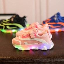 Boys Sneaker Girls Kids Led Shoes Luminous  With Lights Spring Autumn Children Toddler Baby Girl
