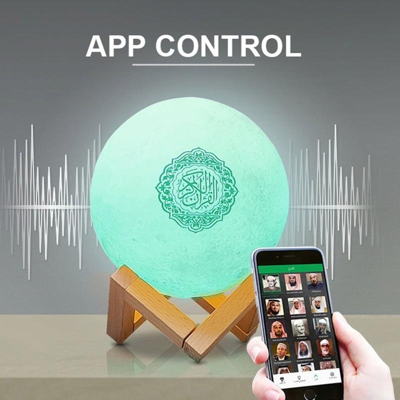 Bluetooth-Колонка Quran, лунная лампа с поддержкой полки, управление через приложение, светильник
