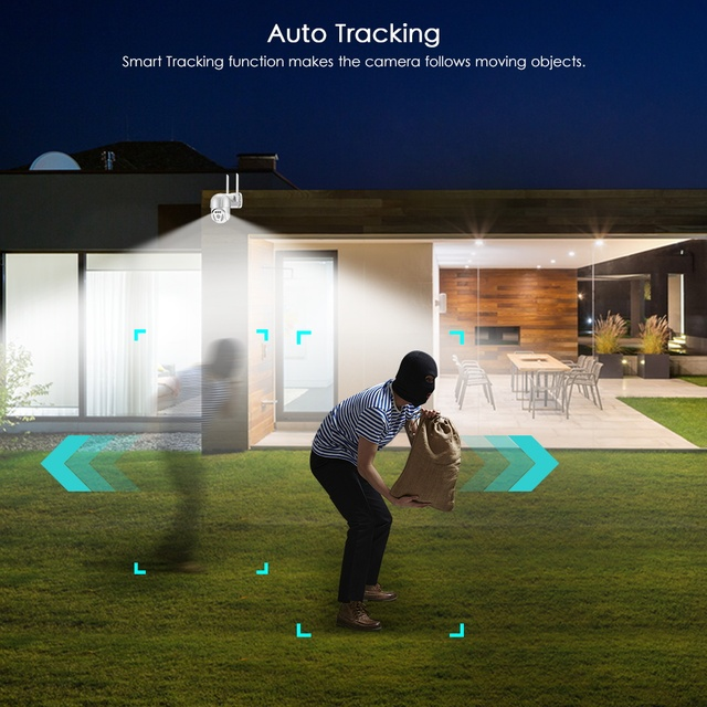 5MP Wifi IP-камера Наружная 3MP Ai Обнаружение человека Автоматическое слежение 3