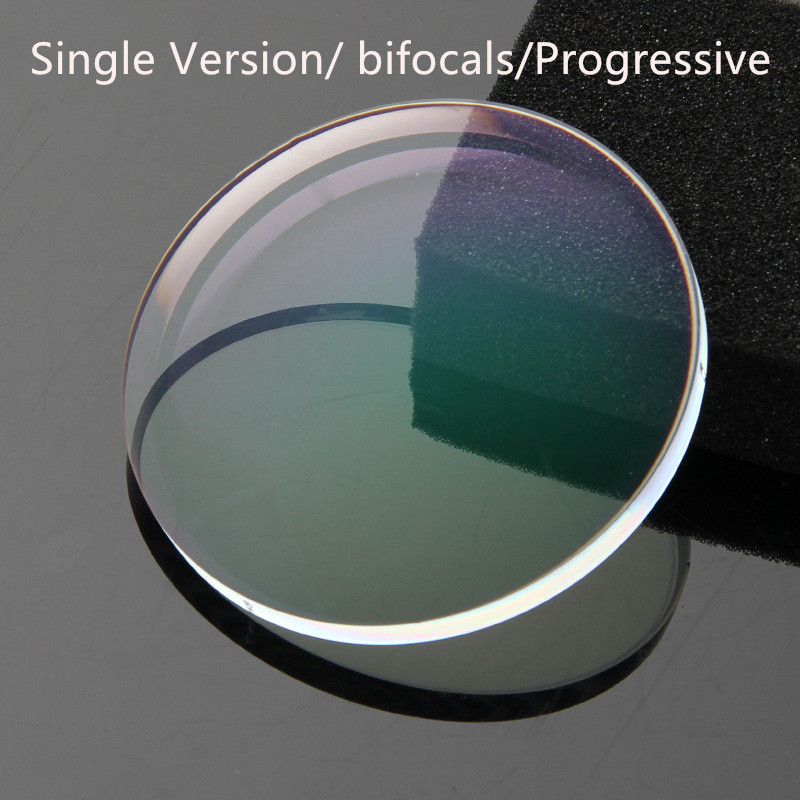 1.56 1.61 1.67 1.71 1.74 Single Version Progressive Optical Lens Prescription CR-39 Clear Glasses Lenses Myopia Hyperopia Lentes