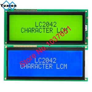 Image 1 - 1 adet büyük büyük karakter lcd ekran paneli 2004 20*4 yeşil mavi 146*62.5mm HD44780 LC2042 AC204B SBS02004A0 kaliteli