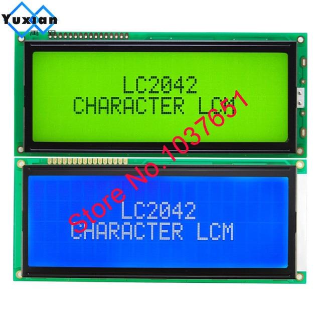 1 adet büyük büyük karakter lcd ekran paneli 2004 20*4 yeşil mavi 146*62.5mm HD44780 LC2042 AC204B SBS02004A0 kaliteli