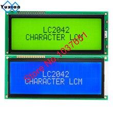 1 pçs grande caráter lcd painel de exibição 2004 20*4 verde azul 146*62.5mm hd44780 lc2042 ac204b sbs02004a0 boa qualidade