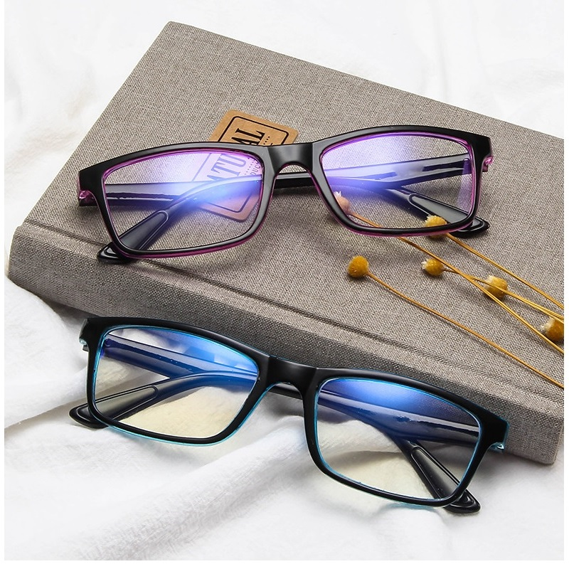 GIFANSEE Men Women Anti Blue Light Glasses Anti Fatigue Computer Radiation Protection Spectacles Decorative Filter Blocking
