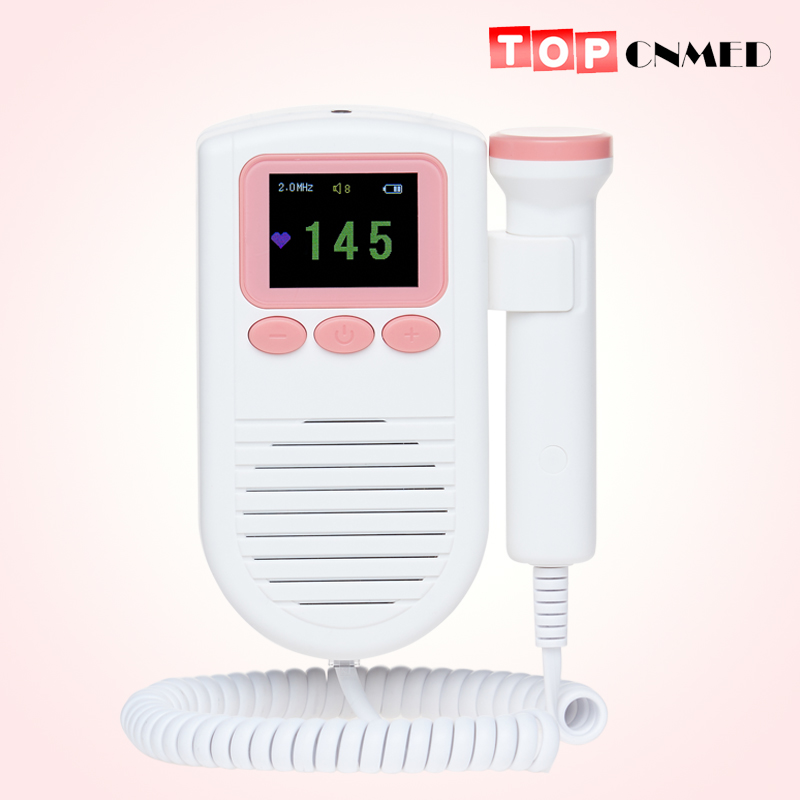 2 modes Color Display Fetal Doppler Portable ultrasound fetal heart monitor with 2MHz probe Alarm Function FHR Curve(China)