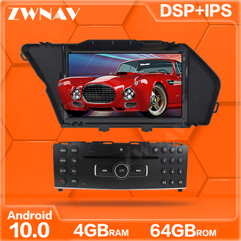 ZWNAV Android 10 multimedia player navigation IPS HD Screen for BENZ GLK GLK X204 GLK 300 GLK 350 CAR DVD 4GB+64GB head unit DSP image