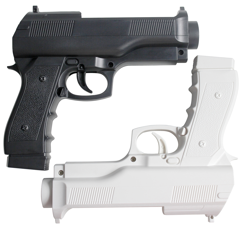 OSTENT 2 X Light Gun Pistol Shooting Sport Video Game For Nintendo Remote Controller
