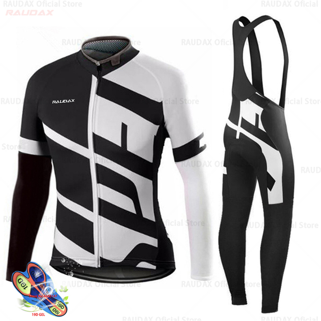 Primavera 2020 pro equipe raudax camisa de ciclismo outono mtb ciclismo roupas verão manga longa triathlon mountain bike bib pant conjunto 3