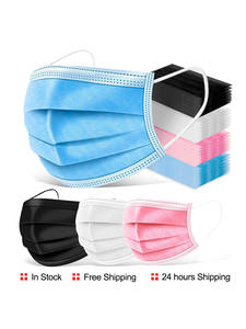 Mouth-Masks SAFE-FILTER Protective-Mascarillas Disposable Breathable 3-Layer 10-200PCS