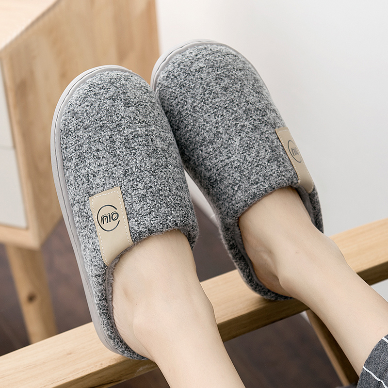 Men Winter Warm Slippers Fur Slippers Men Boys Plush Slipper Cotton Shoes Non-slip Solid Color Home Indoor Casual Slippers 3