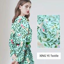 Tissu en soie de mûrier doux Floral, vêtements chemises et hauts pour femmes, matériel de couture, tissus au mètre Alibaba Express