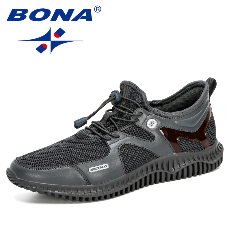 BONA 2020 New Designers Men Shoes Lightweight Comfortable Breathable Walking Sneakers Man Tenis Masculino Zapatillas Hombre Male