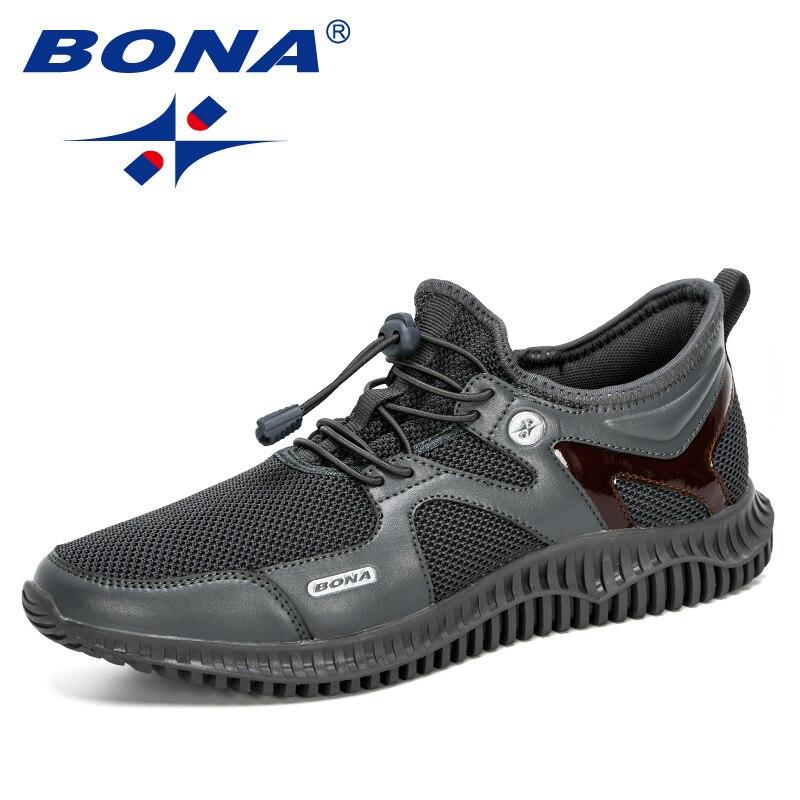 BONA 2020 nuevos diseñadores zapatos para hombres ligeros cómodos transpirables Zapatillas para caminar Hombre Tenis Masculino Zapatillas Hombre Masculino ¡Novedad de 2019! Zapatillas deportivas para niños y niñas, calzado deportivo para niños con fondo suave, zapatos transpirables para exteriores, color rosa, plateado, tamaño 30-35