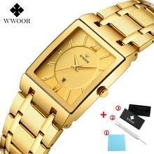 Wwoor модные квадратные мужские часы Лидирующий бренд роскошные