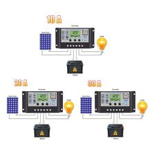 30A/20A/10A 12V 24V Auto Solar Charge Controller PWM Controllers LCD Dual USB 5V 23GB 20a 12 24v auto work mppt solar charge controller multi function compensation circuit with usb 5v output for lead acid battery