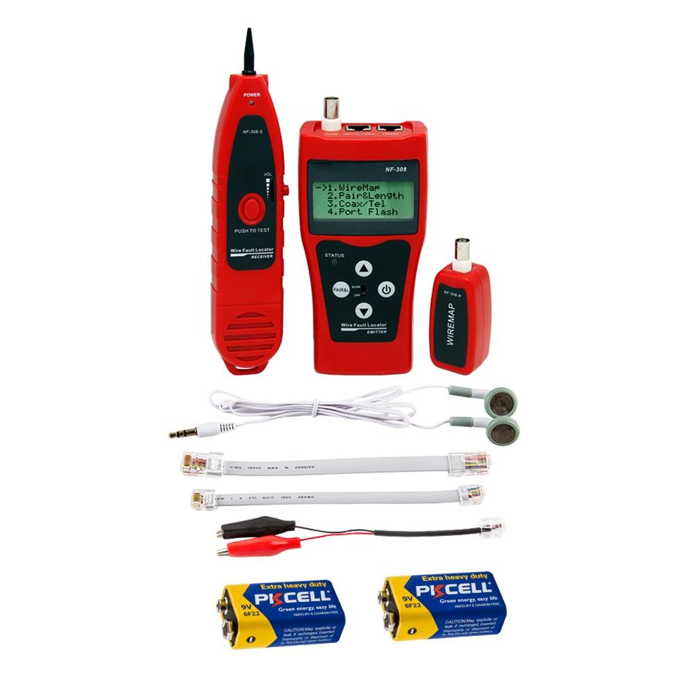 NF-308 medida de rede lan cabo comprimento