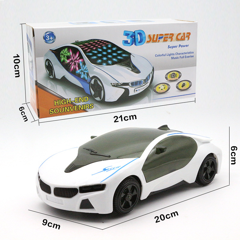 Baby Electric Toys Music Car Sports Car Children Light And Sound Universal Wheel Boy Toy Car