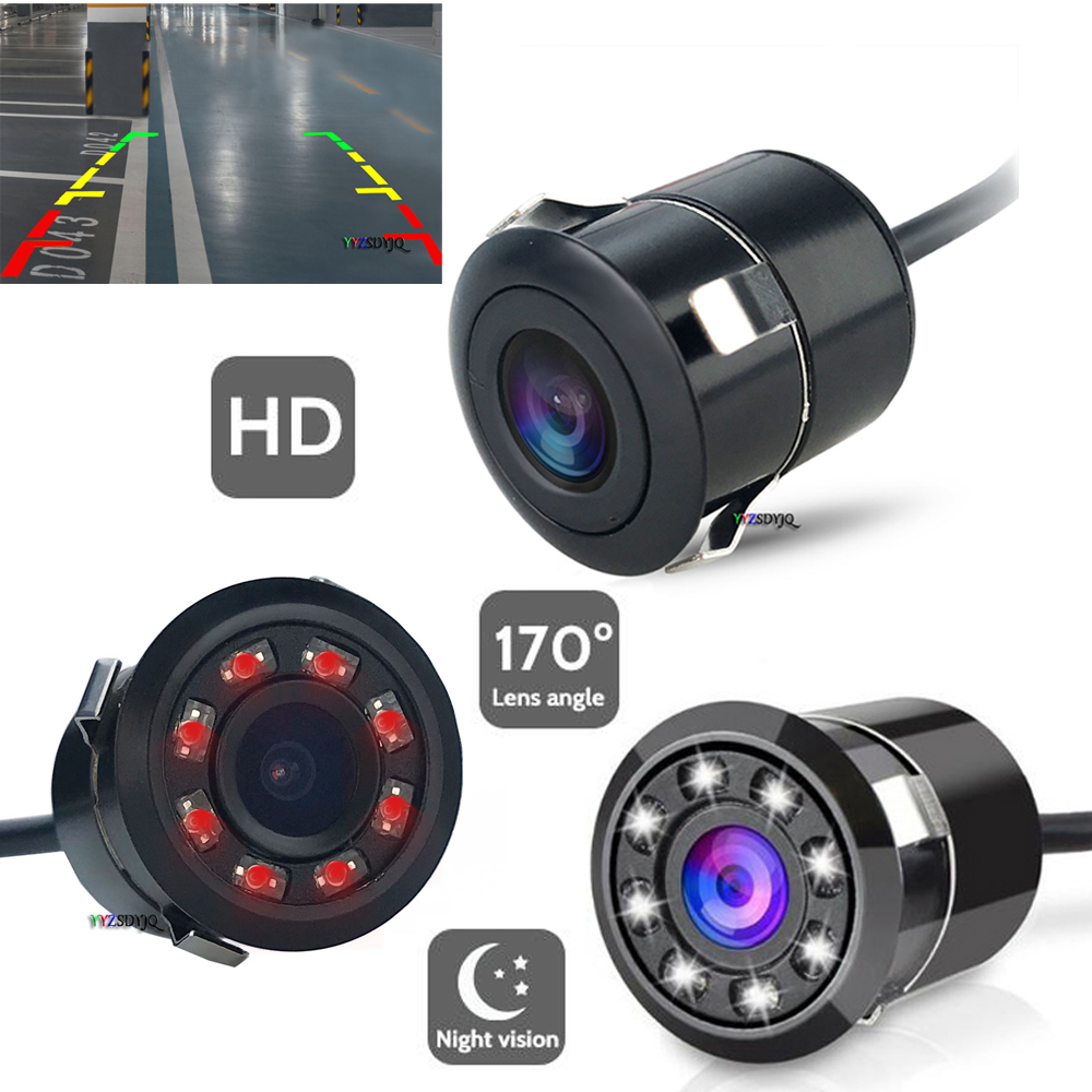 18.5mm LED/IR Night Visions Car Rear View Camera Wide Angle HD Color Image Waterproof Universal Backup Reverse Parking Camera