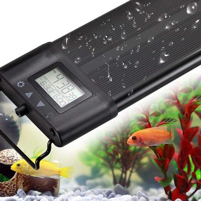 45cm Programmable Aquarium Lighting Full Spectrum Fish Tank LED Light with Extendable Brackets  1