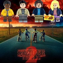 Stranger things Lucas Eleven Will star trek klocki Marvel Move zabawki dla dzieci Technic Friends Creator Princess(China)
