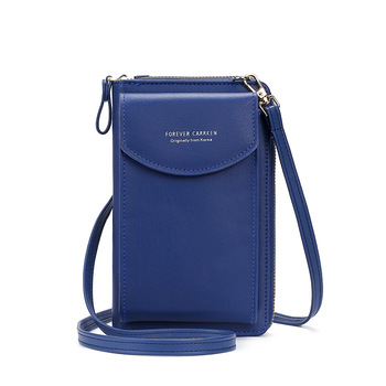 2020 Fashion Cell Phone Case Designer Small Shoulder Bag for Women PU Leather Ladies Crossbody Bag Female Mini Messenger Bags - Dk Blue