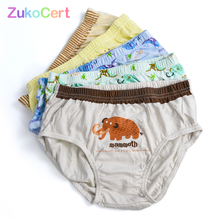 Briefs Underware Boys Panties Boxer Baby Shorts Cotton Cartoon 5pcs/Lot Animal Kid 2-8