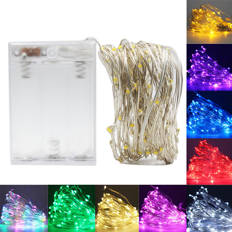 2/5/10M LED String Lights Christmas Fairy Lights Garland Outdoor LED For Wedding Party Curtain Window Light Decor