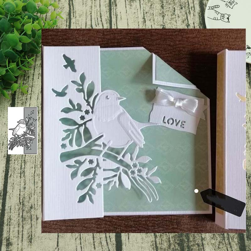 Metal Cutting Dies Bird Lace 2 Cut Die Mold Decoration Scrapbook Paper Craft Knife Mould Blade Punch Stencils Die