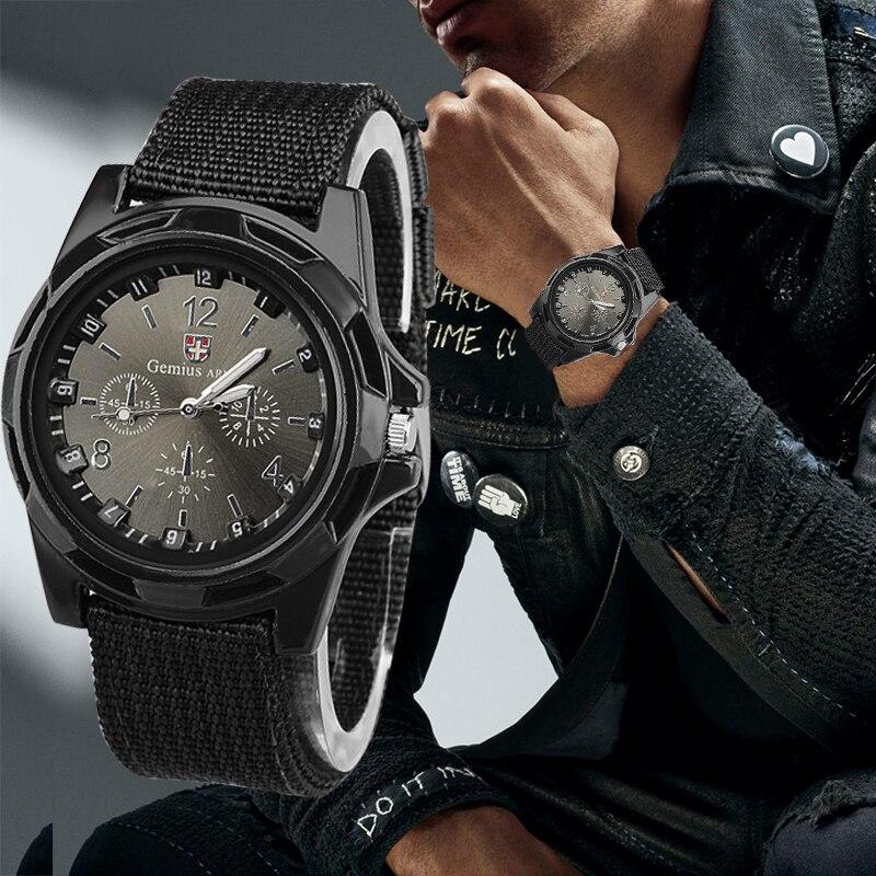 Nylon Band Military Watch Men Watches Gemius Army Wrist Watch Quartz Men Sports Watches Relojes Para Hombre Relogio Masculino