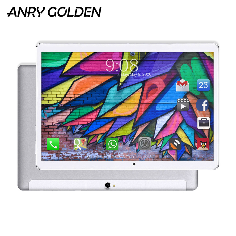 ANRY 10.1 Inch 4G LTE Android Tablet Phone Call Tablets PC Deca Core 1920*1200 FHD IPS 4GB RAM 64GB ROM Bluetooth GPS  MTK6797