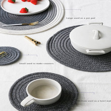 Hand-woven simple and Creative Cup mat, heat-resistant cup mat creative office usb powered heat preservation mat cookie shape cup warmer